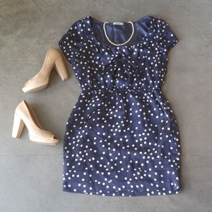 Do & Be Blue Mini Dress with White Polka Dots